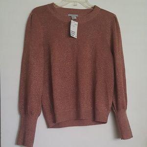NWT H&M Sparkly Rose Gold Sweater - Medium